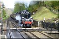 NZ8301 : Train from Grosmont arrives at Goathland Station by Russel Wills