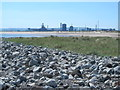 NZ5527 : Rocks and dunes east of the South Gare Breakwater by Mike Quinn