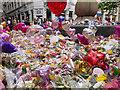 SJ8398 : Floral Tributes at St Ann's Square by David Dixon