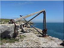 SY6869 : Old quarry hoist, Portland by Gareth James