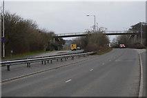 SX5061 : Footbridge, A386 by N Chadwick