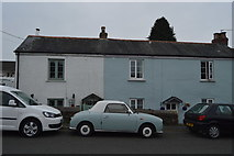 SX5062 : Cottages, Roborough by N Chadwick