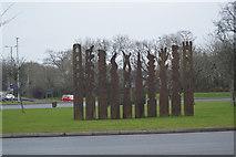 SX5062 : Art! on a roundabout by N Chadwick