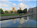 ST5872 : Bristol Cathedral and City Hall by John Sutton