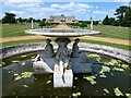 TL0935 : Ornamental fountain in Wrest Park, Bedfordshire by Richard Humphrey