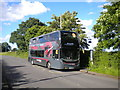 SP1399 : Bus on Weeford Road, Roughley by Richard Vince