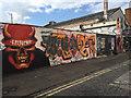ST5973 : Graffiti and flyposting, Moon Street, Bristol by Robin Stott