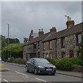 ST6255 : Terrace of houses, A39, Farrington Gurney by David Smith