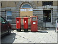 SW8032 : Elizabeth II postboxes outside  Post Office, Falmouth by JThomas