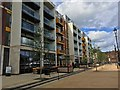 TL0449 : Flats and restaurant on the new Riverside North development by Philip Jeffrey