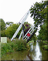 SJ5847 : Wrenbury Frith Lift Bridge in Cheshire by Roger  Kidd