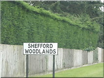 SU3673 : Old sign entering Shefford Woodlands by David Howard