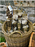 NR3994 : Local wool products for sale in the Old Waiting Room Gallery, Colonsay by Julian Paren