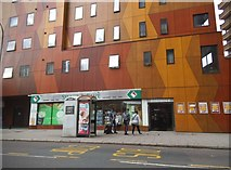 TQ3279 : Brown and yellow block on New Kent Road by David Howard
