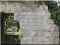 TL3676 : St Helen (old church), Colne - Memorial by John Salmon
