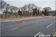 SX4757 : Roadworks, A386 by N Chadwick