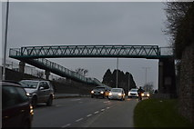 SX4858 : Footbridge over A386 by N Chadwick