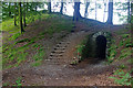 NY3307 : Path and tunnel, Allan Bank by Ian Taylor