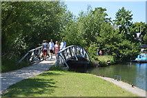 SP5204 : Footbridge, Weirs Mill Stream by N Chadwick