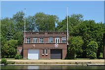 SP5105 : Merton College, Worcester College Boathouse by N Chadwick