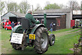 SP9315 : Farm tractor advertising the Open Day at Pitstone Green Museum by Chris Reynolds