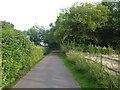 TQ4257 : Access road to Leacroft Kennels by Marathon