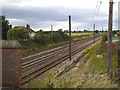 SE5458 : East Coast Main Line north of Shipton Low Road bridge by Stephen Craven