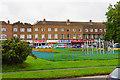 ST5478 : Row of shops in Lawrence Weston by Bill Boaden