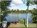 TQ0281 : Wood Lane Lake by Des Blenkinsopp