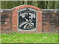 TL5348 : The Abingtons joint village sign by Keith Edkins
