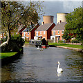 SK0616 : Canalside housing near Brereton, Staffordshire by Roger  Kidd