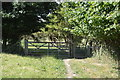 SU8696 : Gate in corner of field by N Chadwick