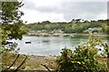 SW7626 : The Landing stages from across the creek,  Helford village by Derek Voller