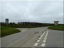 SW9963 : Crossroad near Inchs by Rod Allday