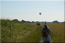 SP4609 : Balloon and walkers on Thames Path by N Chadwick