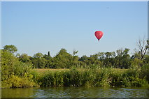 SP4710 : Balloon across the River Thames by N Chadwick