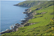 SX4248 : Coastline east of Rames Head by N Chadwick