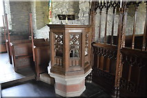 SX4249 : Church of St Germanus - pulpit by N Chadwick
