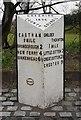 SJ3679 : Old Milepost by J Higgins
