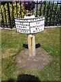 SJ6974 : Old Milepost by J Higgins