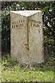 SJ5044 : Old Milepost by JV Nicholls & J Higgins