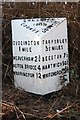 SJ5970 : Old Milepost by JV Nicholls & J Higgins