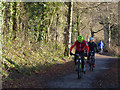 SJ6167 : Cyclists on the Whitegate Way by Stephen Craven