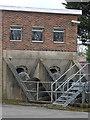 SP3065 : Archimedes screws, Princes Drive sewage pumping station, Leamington by Rudi Winter