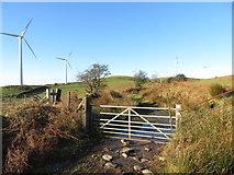 SS9985 : Gate on the Taff Ely Ridgeway walk by Gareth James