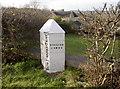 ST7361 : Turnpike marker near the Wansdyke by Neil Owen