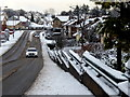 H4672 : Snow along Hospital Road, Omagh by Kenneth  Allen