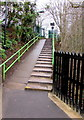 SP1199 : Steps and ramp up from Butlers Lane railway station, Sutton Coldfield by Jaggery