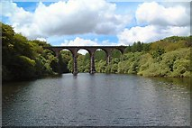 SD7217 : Bradshaw Brook Viaduct over Wayoh Reservoir by Gary Rogers