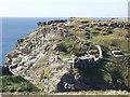 SX0589 : Tintagel Castle by Alan Simkins